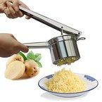 Kartoffelpresse, Edelstahl Spätzlepresse Nudelpresse Spaghettieispresse, Rundloch