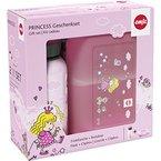 Emsa 516165 2-teiliges Geschenkset für Kinder, Brotdose und Trinkflasche, Rosa, Kids Set Princess