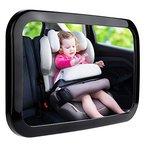 Zacro Rücksitzspiegel für Babys Babyspiegel für Autositz Einstellbar Babyschalenspiegel Sicherheitsspiegel Babyspiegel für Babyschalen schwarz