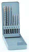 alpen SDS-plus Hammerbohrer F8 extreme, 4 Schneiden, Durchmesser 5, 6, 8 x 110 mm und 6, 8, 10, 12 x 160 mm als 7-teiliger Satz in der Metallkassette, 80600007100