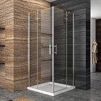 Dusche Duschkabine Duschabtrennung 90x90cm Eckeisntieg Duschtür Eckdusche Duschwand aus Sicherheitsglas