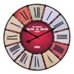 WOHNLING Wanduhr XXL ¯ 60 cm Galerie Küchenuhr Vintage-Look Bahnhofsuhr modern Römische Ziffern mehrfarbig stilvoll Wohndeko Design Wohnzimmeruhr Wanddekoration elegant Designuhr Wohnraumdekoration