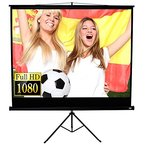Jago Beamer Leinwand Heimkino 178 x 178 cm (Diagonale ca. 252 cm / 99 Zoll) HDTV inkl. Stativ
