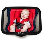 Rücksitzspiegel fürs Baby, Bruchsicherer Auto-Rückspiegel für die Babyschale, Autospiegel ohne Einzelteile/Schrauben, Babyspiegel in universeller Passform