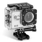 ELE CAM Original Sportkamera Actionkamera 16MP 4K Wasserdicht Full HD Klein Set Helm mit Zubehör Wifi 1080p 60fps Wasserdicht Unterwasser Tauchen für Motorrad, Fahrrad, mit Halterung ( Silber )