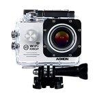 aokon Sports Action Kamera Cam WiFi Wasserdicht Kamera 1080P 12m HD Helm Motorrad Video Unterwasser Cam-170° Weitwinkel Objektiv-2.0Display-4x Zoom-2Batterien & 18Zubehör Kit (weiß)