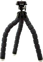 Rollei Monkey Pod - Biegsames Mini Stativ mit flexiblen Beinen, Max. Höhe 27 cm - inkl. Kugelkopf, rutschfesten Gummifüßen und Schnellwechselplatte - Schwarz