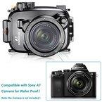 Neewer 40m 130FT Unterwasser PC-Gehäuse Kamera Wasserdichte Schutzhülle für Sony A7/A7R mit 18-70mm Objektiv