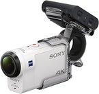 Sony FDR-X3000RFDI 4K Action Cam mit RM-LVR3 Live View Remote Fernbedienung und Fingergriff AKA-FGP1 (BOSS, Exmor R CMOS Sensor, Carl Zeiss Tessar Optik, GPS, WiFi, NFC) weiß