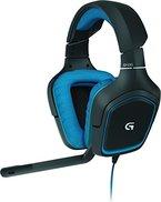 Logitech G430 Gaming Kopfhörer (Dolby 7.1-Surround-Sound für PC und PS4) blau