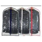 6 transparente Kleidersäcke, 100 cm, mit verschiedenen Farbeinfassungen Hangerworld