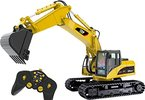 Top Race® 15-Kanal voll funktionsfähiger professioneller RC Bagger, batteriebetriebener Remote Control Bautraktor ~ Metall- Schaufel ~ (TR-211)