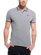 WOLDO Athletic Herren Poloshirt Polohemd Polo Shirt Hemd kurzarm Slim Fit (L, Jackman / grau)