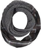 s.Oliver Herren Schals 97611914623, Mehrfarbig (Grey/Black Check 99n1,Schwarz), One Size (Herstellergröße: 1)