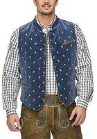 Stockerpoint Herren Trachtenweste Weste Calzado, Blau (Rauchblau), Large (Herstellergröße: 52)