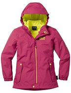Jack Wolfskin Mädchen Iceland 3IN1 Girls 3-In-1 Jacke, Azalea Red, 104
