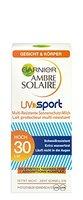 Garnier Ambre Solaire Sonnencreme UV Sport / schweißfester Sonnenschutz für Gesicht und Körper / LSF 30, 1er Pack - 50 ml