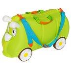 TecTake Kinder Hartschalen Koffer Ziehkoffer mit gummierten Rädern inkl. Trageriemen grün