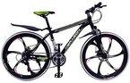 "Mountainbike 26"" Zoll Herren/MTB/All Mountain,Cravog 21 Gang Fahrrad Alu Aluminium Rahmen Mag Wheels Hardtail V-Bremse (schwarz-grün)"