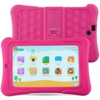 Alldaymall Kinder Tablet PC - 7 zoll IPS( 16GB ROM+1GB RAM, HD 1920x1200, Wi-Fi, Android 5.1, Quad Core, Bluetooth, OTG ) - (with Silikon Adjustable Stand Case) [2017 New Model] - Rosa