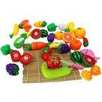Qianle 24 Stücke Schneid Obst Gemüse Spielzeug als Geschenk,Erziehungsspielzeug,Familie spielen DIY Spielzeug Set