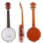 Kmise 4 String Banjo Ukulele Ukelele Uke Banjo lele Konzert 23 Zoll Größe Sapele Holz
