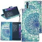 Dooki,Sony Xperia XZ / Xperia XZs Hülle, Ständer Brieftasche Flip PU Ledertasche Schutzhülle für Sony Xperia XZ / Xperia XZs mit Kredit Kartenfächer