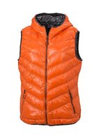 James & Nicholson Damen Jacke Daunenweste Ladies' Down Vest orange (dark-orange/carbon) Large