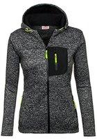 BOLF Damen Sweatshirt Longsleeve Pullover Sweatjacke RED FIREBALL 9853 Schwarz M [1A1]