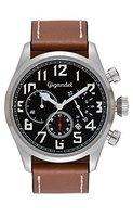 Gigandet Quarz Herren-Armbanduhr Interceptor Chronograph Uhr Datum Analog Lederarmband Schwarz Braun G4-002