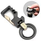 Fencher Schlüsselanhänger Flaschenöffner mit 2 extra Schlüsselringe und Geschenkbox für Männer und Frauen - Grau