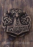 Gürtelschnalle - Thorshammer aus Schonen - Wikinger - Thor - Odin - Hammer Farbe bronze