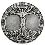 Q&Q Herren-Vintage-Silber-Gürtelschnalle, Keltischer Baum des Lebens, Liebe, nordische Mythologie, Pagan, Wikka
