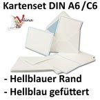 Neuser Einladungskarten inklusive Briefumschläge   25er-Set   hochwertige Postkarten in Weiß mit abgesetztem hellblauen Rand   exklusive Gruß-Karten & Kuverts in DIN A6 & C6 Format für besondere Anlässe