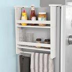 SoBuy® Hängeregal für Kühlschrank, Türregal, Badregal, Küchenschrank mit 2 Ablagen, FRG149-W