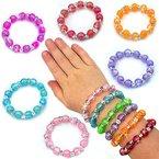 German Trendseller® - 6 x Schmuck perlen - Armbänder für Kinder - NEU - ┃ Farb - Mix ┃ Kindergeburtstag ┃ Mitgebsel ┃ Kinderschmuck ┃ 6 Stück