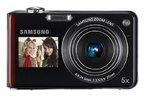 Samsung PL150 Digitalkamera (nur microSD, 12 Megapixel, 5-fach opt. Zoom, duales Display, Bildstabilisierung, Weitwinkel) rot