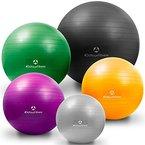 Gymnastikball »Orion« / Robuster Sitzball und Fitnessball von 55cm 65cm 75cm & 85cm inklusive Ballpumpe! / 75 cm / sonnengelb