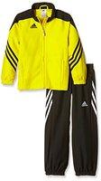 adidas Kinder Trainingsanzug Sereno 14, Top:Sun/Black/White Bottom:Black/White, 152, F49683