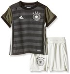 adidas Baby Trikot Set DFB Auswärts, Dark Grey Heather/Off White/Base Green S15/Black, 80, AA0109