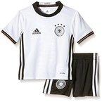 adidas Kinder Trikot UEFA EURO 2016 DFB Mini-Heimausrüstung, schwarz/weiß, 110, AA0139