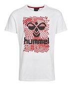 Hummel Herren T-Shirt Hexagon SS Tee, White/Black, XL, 09-875-9124
