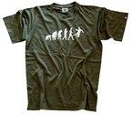 Shirtzshop Erwachsene T-Shirt Original Handball Evolution, Grün, S