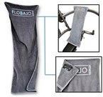 NEU: FloBaJo-Fit - GymTow Sporthandtuch, Fitness-Handtuch mit Doppeltasche und umgenähtem Kopfteil (Sleeve), 100% Baumwolle, 100 cm Länge, Antirutschfunktion, ideal für das Fitnessstudio
