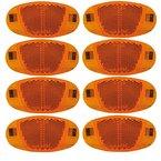 SAMS 8er Set Speichenstrahler Reflektoren StVZO zugelassen mit Stahlclipse Seitenstrahler, 8SR