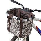 Docooler Damen Fahrradkorb/Fahrradkorb Shopper, Material: Aluminiumlegierung und Oxford Tuch, Größe: 34 * 28 * 25cm