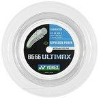 Yonex BG-66 Ultimax 200 m Rolle Badminton Schläger Metallic White Saite NEU