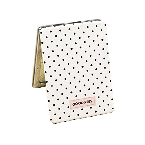 Exquisite Dots tragbare Falten Make-up kosmetische Reisetasche Kompakt-Spiegel