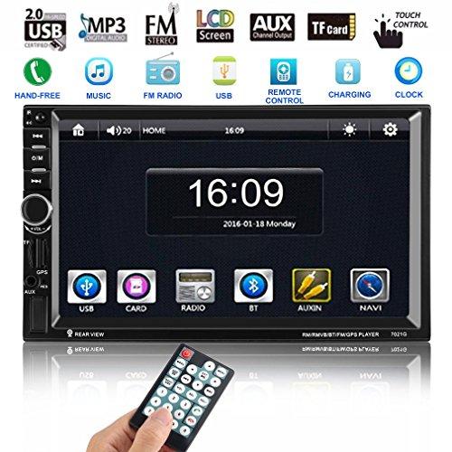 CATUO Auto DVD Player 7 Zoll HD Touchscreen Auto Radio MP5 Spieler mit GPS Navigation und 8GB Map Karte Unterstützung MP3/MP4/MP5/GPS/Mic/BLUETOOTH/USB/TF/AUX