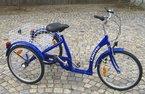Dreirad für Erwachsene LanzTec Therapie- und Seniorendreirad Blau 7 Gang Shimano Nabenschaltung mit Rücktrittbremse